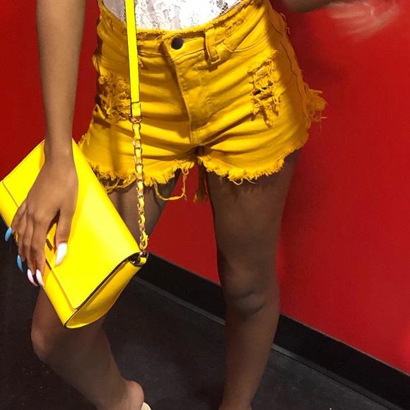 Fashion Nova Pants - Mustard Shorts